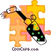 Vector Clipart image  of a torch