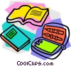 school project, workbooks Vector Clip Art picture