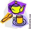 Vector Clip Art picture  of a teapot