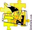 Vector Clip Art image  of a stapler