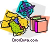 school project, geography Vector Clipart graphic