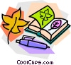 Vector Clip Art graphic  of a school project