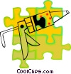 Vector Clip Art graphic  of a caulking gun