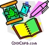 school project, science Vector Clipart image