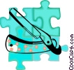 Vector Clipart graphic  of a razor blade