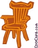 Vector Clip Art image  of a chair