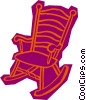 Vector Clip Art graphic  of a rocking chair