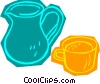 Vector Clipart picture  of a pitcher with cup