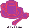 Vector Clipart image  of a cup of coffee