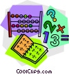 Vector Clipart picture  of an abacus with work book
