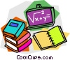 Vector Clipart graphic  of a school project