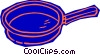 frying pan Vector Clip Art graphic