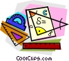 Vector Clipart image  of a school project