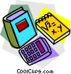 school project, mathematics Vector Clipart picture