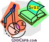 school project, chemistry Vector Clipart illustration