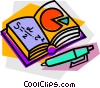school project, mathematics Vector Clipart illustration