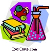 Vector Clip Art image  of a school project