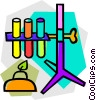 Vector Clipart graphic  of a test tubes
