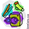 Vector Clipart image  of a laundry items