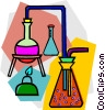 beakers and flasks Vector Clip Art picture