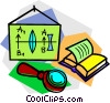 Vector Clipart illustration  of a school project