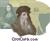 Vector Clip Art image  of a Leonardo de Vinci