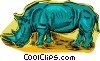 rhinoceros Vector Clipart illustration