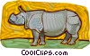 Vector Clip Art image  of a rhinoceros