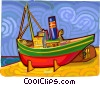 tug boat Vector Clipart picture