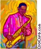 saxophone player Vector Clip Art picture