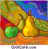 painting of fruit Vector Clip Art image