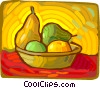 Vector Clip Art picture  of a painting of a fruit basket