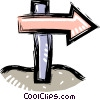 road sign Vector Clip Art picture