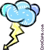storm cloud with lightning bolt Vector Clipart picture