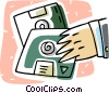 Vector Clip Art image  of a diskettes