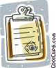 clipboards Vector Clipart graphic