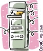 computer system unit Vector Clipart picture