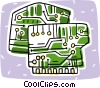 circuit boards Vector Clipart graphic
