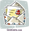 Vector Clip Art picture  of an airmail envelope