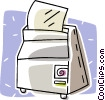 Vector Clipart illustration  of a computer printer
