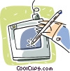 Vector Clip Art picture  of a digitizing tablet