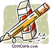 Vector Clipart graphic  of a pencil with eraser