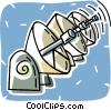 satellite dishes Vector Clipart picture