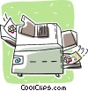 Vector Clipart picture  of a photocopier