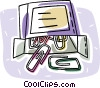 paperclips Vector Clip Art graphic
