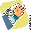 Vector Clipart picture  of a wristwatch