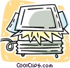Vector Clip Art image  of a scanner