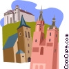 European buildings Vector Clip Art picture