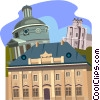 Warsaw, Poland, Church of the traveler Vector Clip Art picture