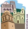 Vector Clip Art graphic  of a European buildings